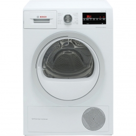 Bosch WTW85493GB, 8kg, SelfCleaning Condensor Dryer, White