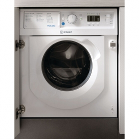Indesit Integrated 7kg 1200 Spin Washing Machine - White - A++ Rated